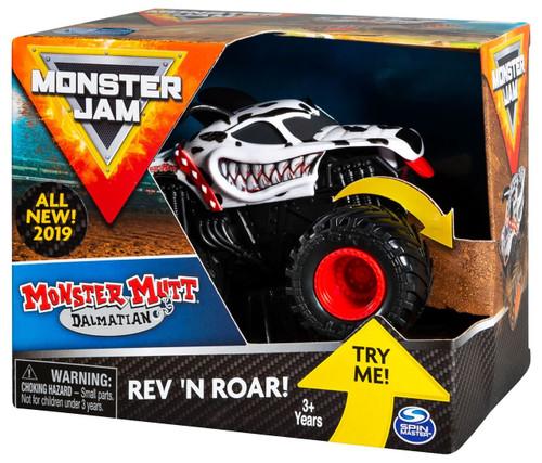 Monster Jam Rev 'N Roar Monster Mutt Dalmatian Vehicle