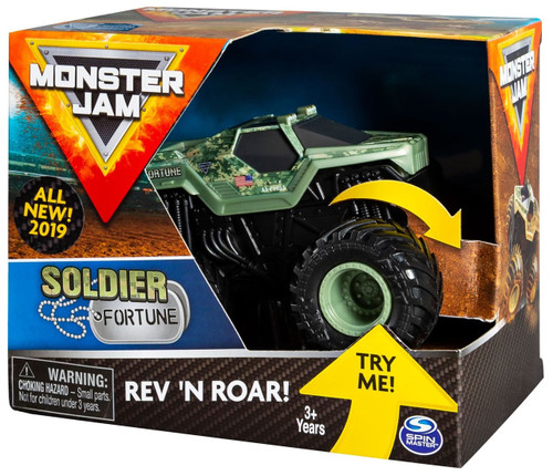 Monster Jam Rev 'N Roar Soldier Fortune Vehicle