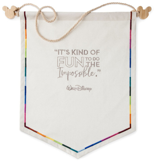 Disney Wisdom Canvas Pennant Trading Exclusive Pin Holder