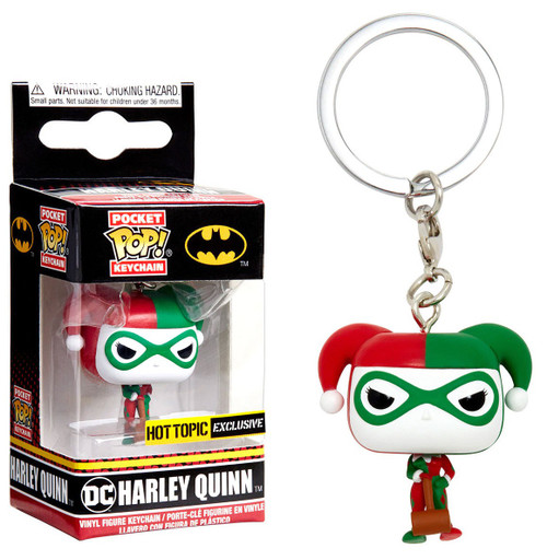 Funko Batman POP! Heroes Harley Quinn Exclusive Keychain [Holiday]