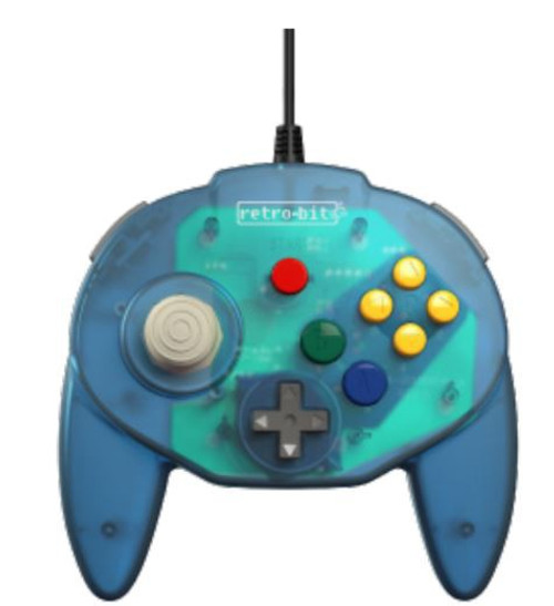 Retro-Bit Tribute64 Connector N64 Connector Controller [Ocean Blue]