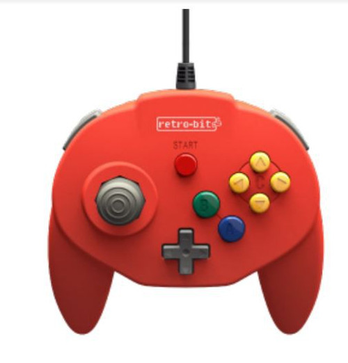 Retro-Bit Tribute64 USB Tribute Nintendo N64 Controller [Red]