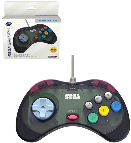 Sega Saturn Wired Original Port Controller [Slate Grey]