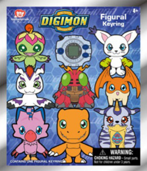 3D Figural Keyring Digimon Series 1 Mystery Pack