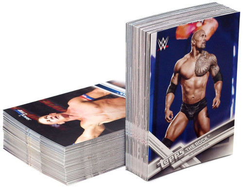 WWE Wrestling Topps 2017 WWE Trading Card Set [100 Cards]
