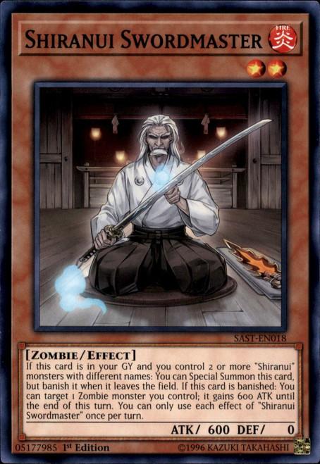 YuGiOh Savage Strike Common Shiranui Swordmaster SAST-EN018