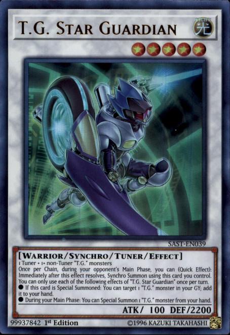 YuGiOh Savage Strike Ultra Rare T.G. Star Guardian SAST-EN039
