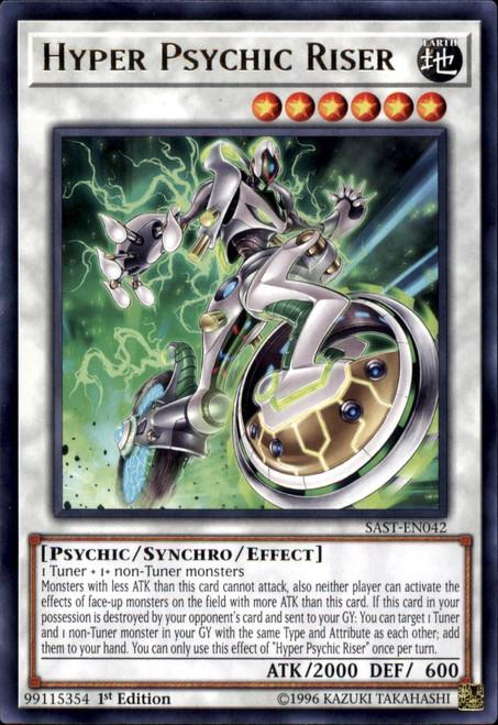 YuGiOh Savage Strike Rare Hyper Psychic Riser SAST-EN042