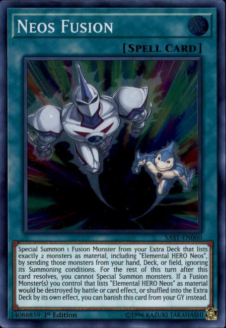 YuGiOh Savage Strike Super Rare Neos Fusion SAST-EN060
