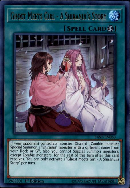 YuGiOh Savage Strike Ultra Rare Ghost Meets Girl - A Shiranui's Story SAST-EN063