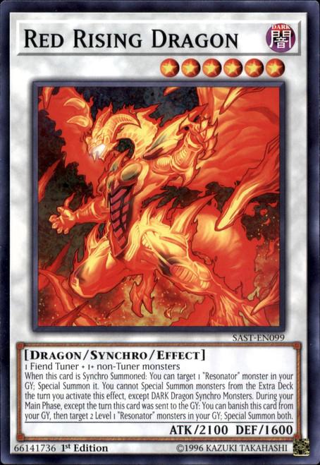 YuGiOh Savage Strike Common Red Rising Dragon SAST-EN099