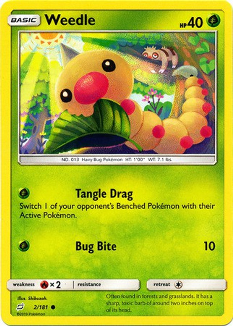 Pokemon Trading Card Game Team Up Common Weedle #2