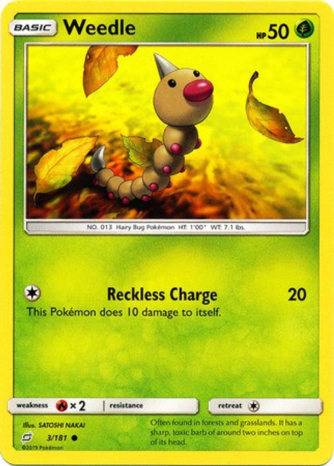 Pokemon Trading Card Game Team Up Common Weedle #3