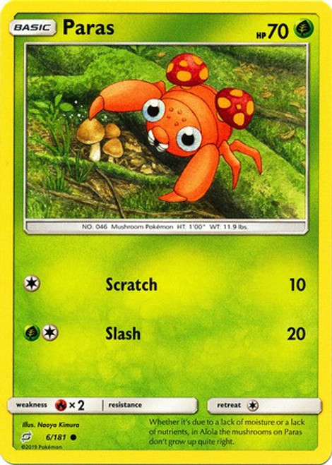 Pokemon Trading Card Game Team Up Common Paras #6
