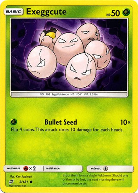 Pokemon Trading Card Game Team Up Common Exeggcute #8