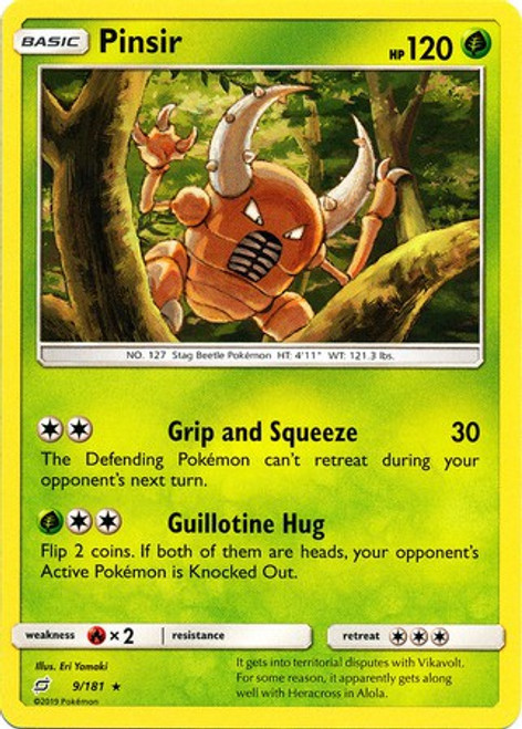 Pokemon Trading Card Game Team Up Rare Pinsir #9