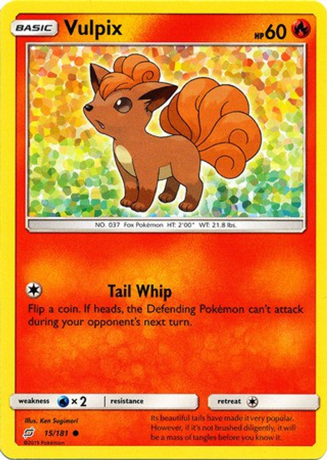 Pokemon Trading Card Game Team Up Common Vulpix #15