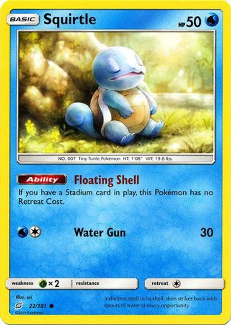 Pokemon Trading Card Game Team Up Common Squirtle #22