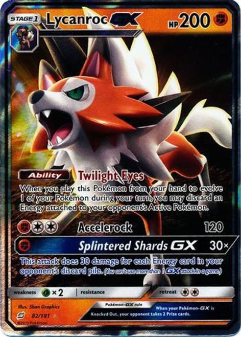 Pokemon Trading Card Game Team Up Ultra Rare Lycanroc GX #82