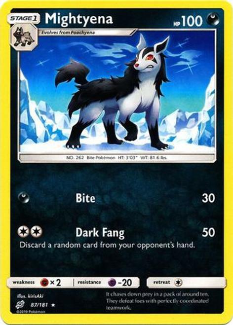 Pokemon Trading Card Game Team Up Rare Mightyena #87