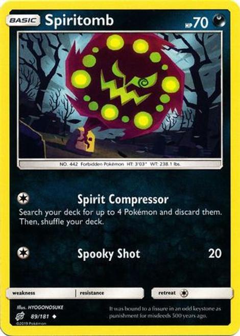Pokemon Trading Card Game Team Up Uncommon Spiritomb #89