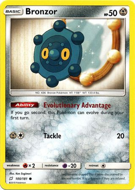 Pokemon Trading Card Game Team Up Common Bronzor #100