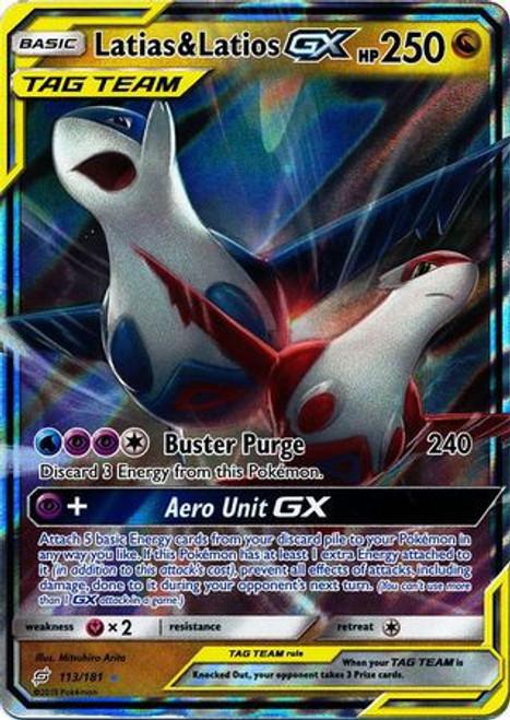 Pokemon Trading Card Game Team Up Ultra Rare Latias & Latios GX #113