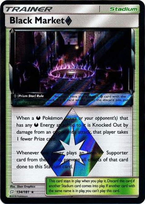 Pokemon Trading Card Game Team Up Rare Holo Black Market Prism Star #134