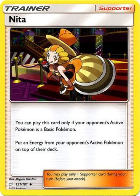 Pokemon Trading Card Game Team Up Uncommon Nita #151