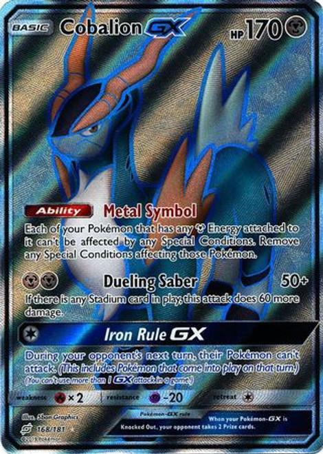 Pokemon Trading Card Game Team Up Ultra Rare Cobalion GX #168