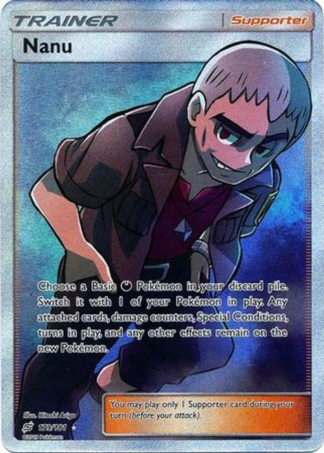 Pokemon Trading Card Game Team Up Ultra Rare Nanu #179