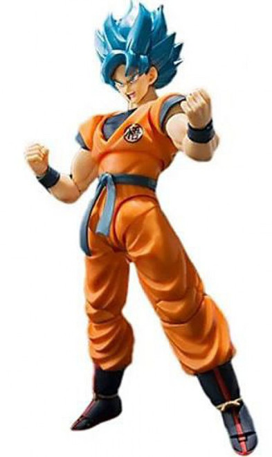 Dragon Ball Super: Broly S.H. Figuarts Super Saiyan Blue Goku Action Figure [Super Saiyan God Super Saiyan]