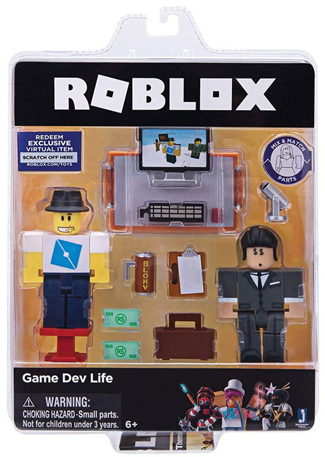 Roblox Celebrity Collection Game Dev Life Action Figure Game Pack