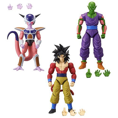 Dragon Ball Super Dragon Stars Series 9 Super Siayan 4 Son Goku, Piccolo & 1st Form Frieza Set of 3 Action Figures [Build-a-Figure]