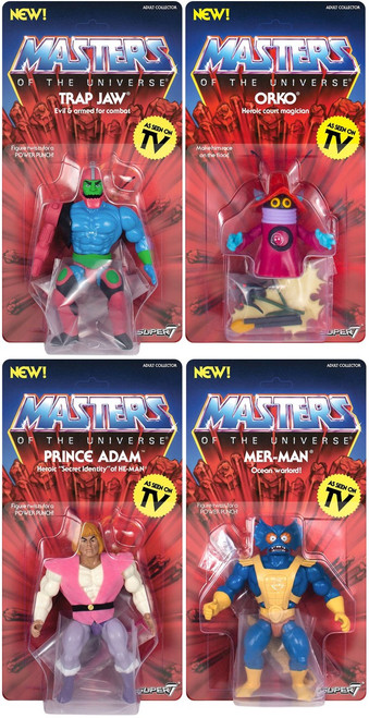 Masters of the Universe Vintage Series 3 Set of 4 Action Figures