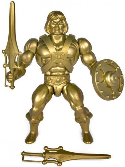 Masters of the Universe Vintage Gold He-Man Action Figure [Limited Edition]