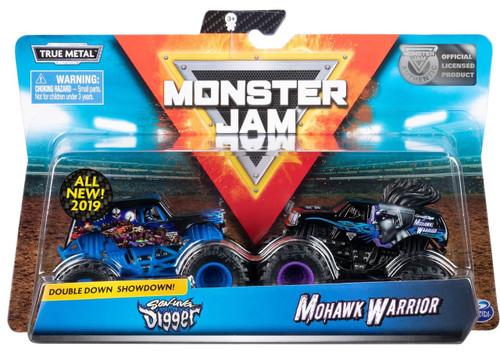Monster Jam Double Down Showdown! Son-Uva Digger & Mohawk Warrior Diecast Car 2-Pack