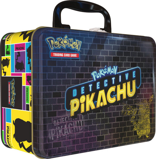 Pokemon Trading Card Game 2019 Collector's Chest Detective PIkachu Tin Set [9 Booster Packs & Pin!]
