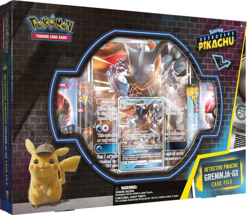 Pokemon Trading Card Game Detective Pikachu Greninja-GX Case File [7 Booster Packs, Promo Card, Oversize Card & Pin!]
