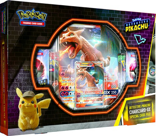 Pokemon Trading Card Game Detective Pikachu Charizard-GX SPECIAL Case File [7 Booster Packs, Promo Card, Oversize Card & Coin]