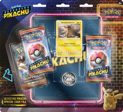 Pokemon Trading Card Game Detective Pikachu Special Case File [3 Booster Packs, Promo Card, Coin & 4-Pocket Binder!]
