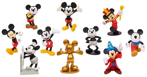 Disney Mickey the True Original 90 Years of Magic Mickey Mouse 3-Inch Figure 10-Pack [Hassle Free Packaging]