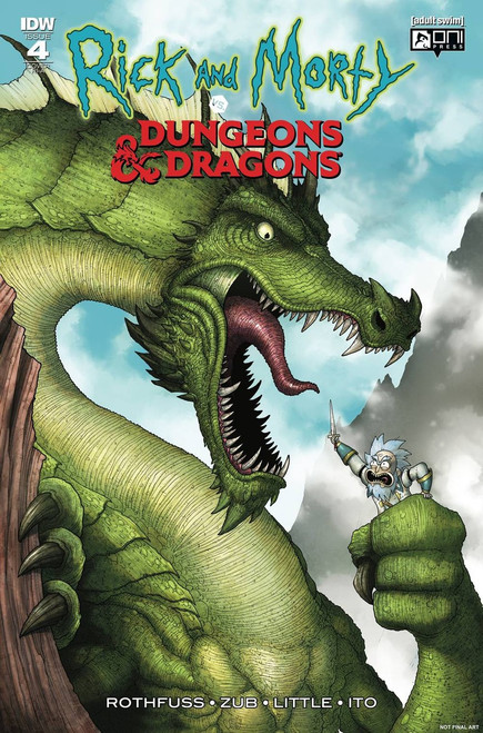 IDW Rick & Morty Vs. Dungeons & Dragons #4 Comic Book [Vasquez Cover Variant]