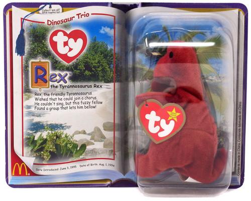 Teenie Beanie Babies 2000 Dinosaur Trio Rex the Tyrannosaurus Rex Exclusive Beanie Baby Plush