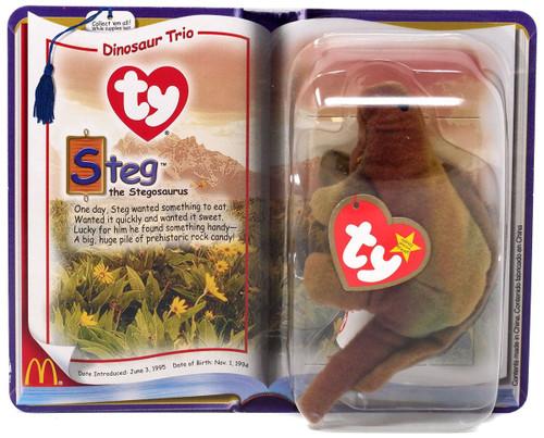 Teenie Beanie Babies 2000 Dinosaur Trio Steg the Stegosaurus Exclusive Beanie Baby Plush