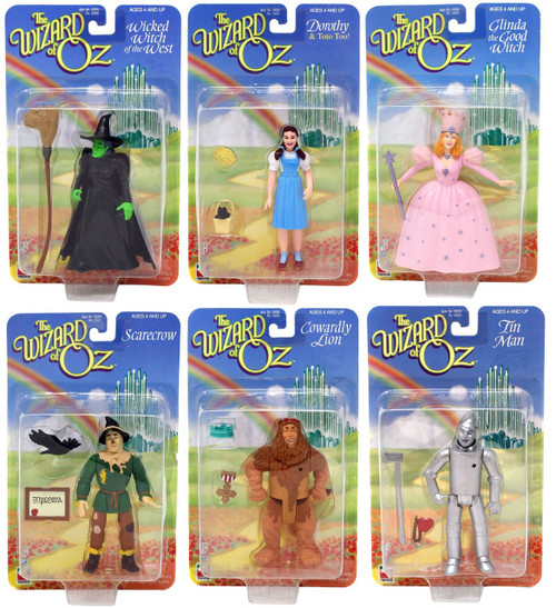 The Wizard of Oz 5.5-Inch Mini Doll Set [Glinda, Cowardly Lion, Tin Man, Scarecrow, Dorothy & Wicked Witch]