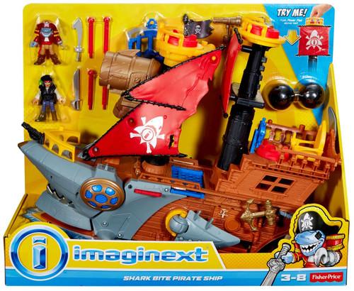 Fisher Price Imaginext Shark Bite Pirate Ship Playset