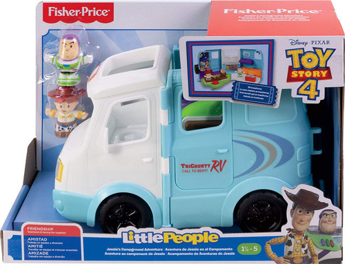 Fisher Price Toy Story 4 Little People Jessie's Campground Adventure Vehicle Playset