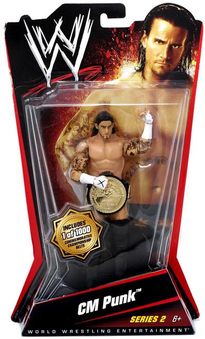 WWE Wrestling Series 2 CM Punk Action Figure [Championship Belt]