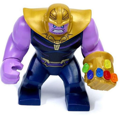 LEGO Marvel Super Heroes Avengers Infinity War Thanos Minifigure [with Complete Infinity Gauntlet Loose]